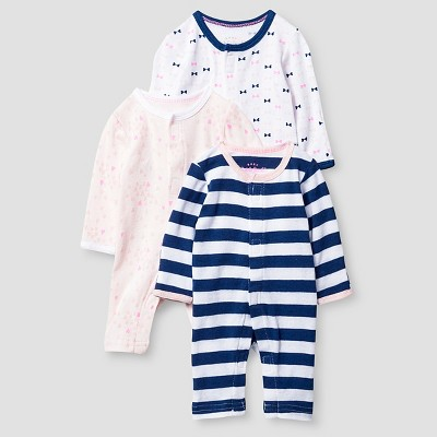 Preemie 3 Pack Sleep N' Play Set Baby Cat & Jack™ - Pink/Navy