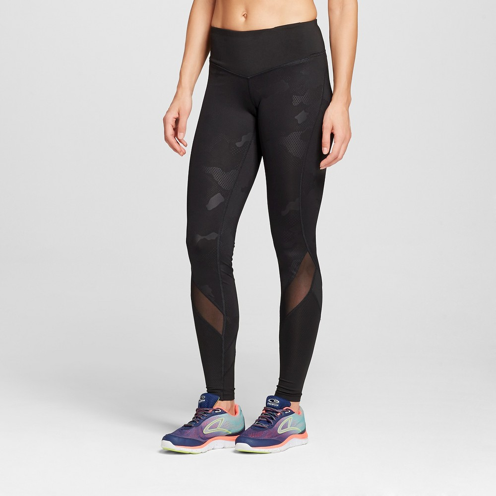 Women's Embrace Must Have Tights with Mesh - Black M - C9 Champion, Size: Medium