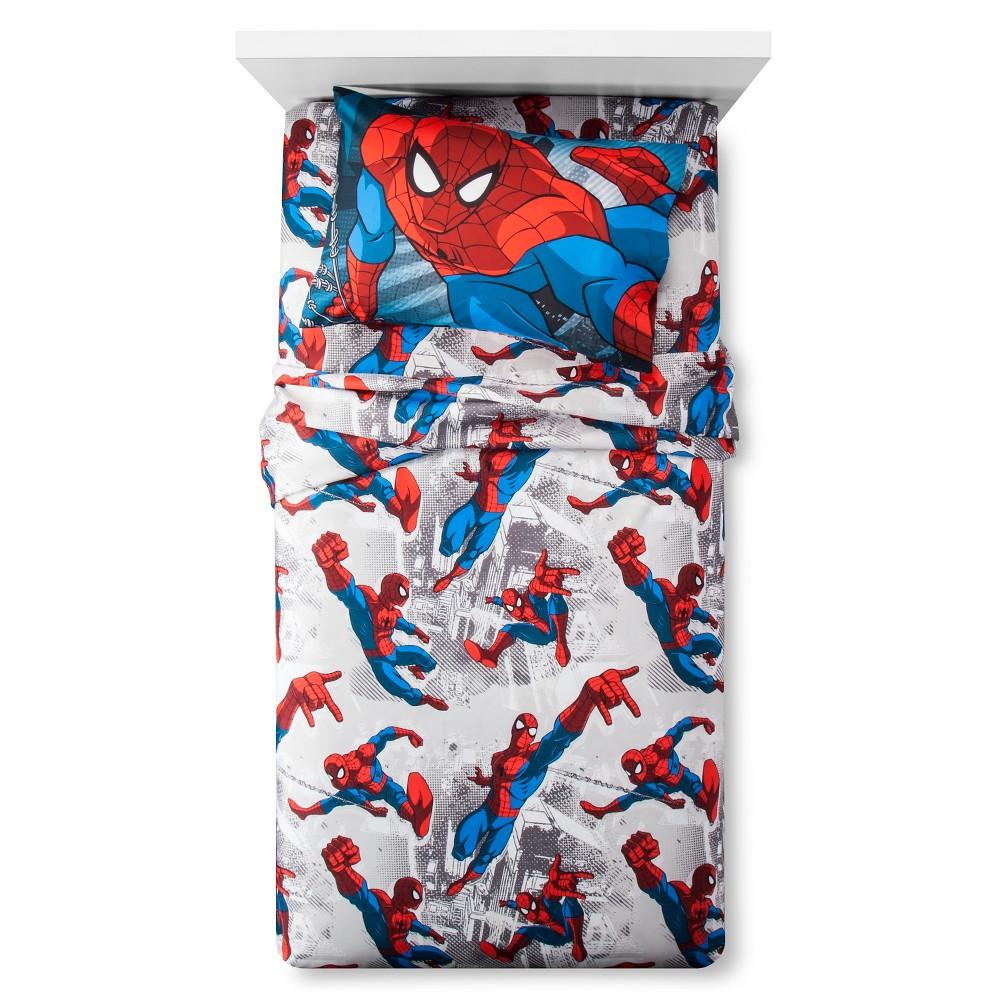Sheet Set Spiderman Marvel Twin, Red