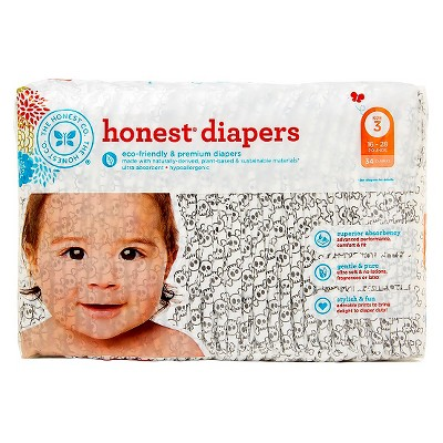 Honest Company Diapers Skulls - Size 3  (34 Count)