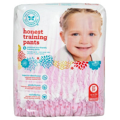Honest Company  Training Pants-Princess - 2T 3T  (26 Count)