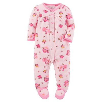 Just One You™Made by Carter's® Baby Girls' Pink Floral Sleep N' Play 9M