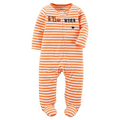 Just One You™Made by Carter's® Baby Orange Stripe Halloween Sleep N' Play NB