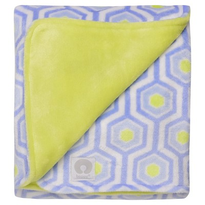 Boppy Reversible Plush Baby Blanket - Light Blue