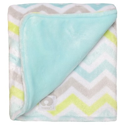 Boppy Reversible Plush Blanket - Mint Green