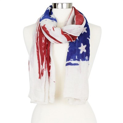 Women's Sylvia Alexander American Flag Scarf - Red/ White/ Blue