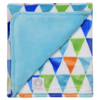 Boppy Reversible Plush Blanket - Turquoise Tint