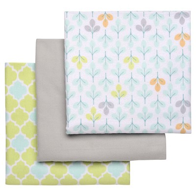 Boppy Flannel Receiving Blanket - Light Mint