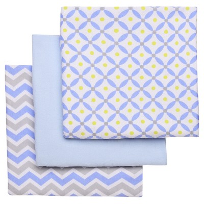 Boppy Flannel Receiving Blanket - Light Blue