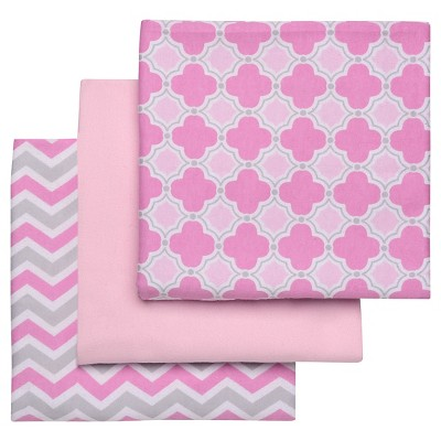 Boppy Flannel Receiving Blanket - Pastel Pink