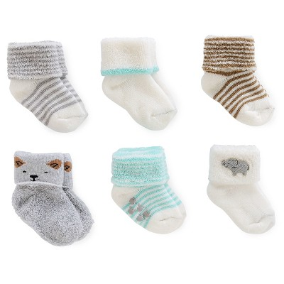 Just One You™Made by Carter's® Baby 6 Pack Computer Socks - Grey/White