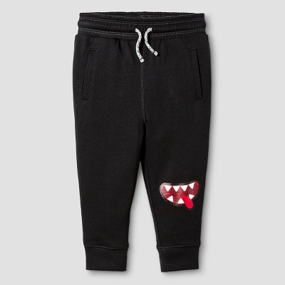Baby Boys' Monster Knee Jogger Sweatpants Baby Cat & Jack™ - Black 12 M