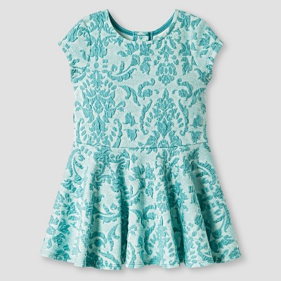 Baby Girls' Knit Jacquard Dress Blue 12M - Genuine Kids from Oshkosh™