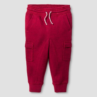 Baby Boys' Jogger Sweatpants Baby Cat & Jack™ - Red 12 M