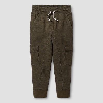 Toddler Boys' Jogger Sweatpants Cat & Jack™ - Olive Green 3T