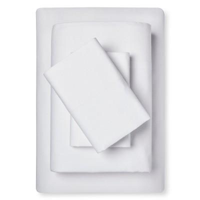 Sheet Set Cotton Linen Blend King White