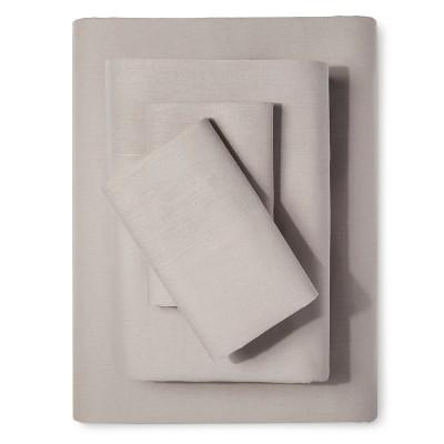 Sheet Set Cotton Linen Blend Queen Taupe