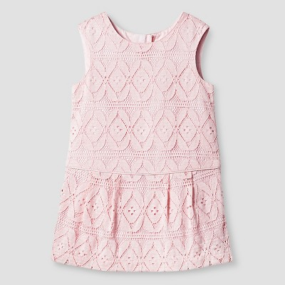 Baby Girls' Pink Lace Dress 12M - Genuine Kids from Oshkosh™