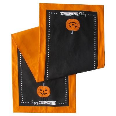 Halloween Pumpkin Fabric Table Runner - Spritz™