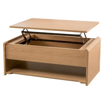 Nathaniel Coffee Table Lift-Top Oak - Christopher Knight Home