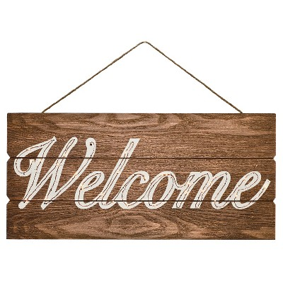 Harvest Lit Welcome Hanging Sign