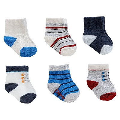 Just One You™Made by Carter's® Baby Boys' 6 Pack Blue Computer Socks 3-12 M