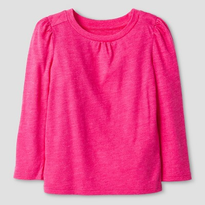 Baby Girls' Long Sleeve Solid Tee Pink 12M - Cat & Jack™