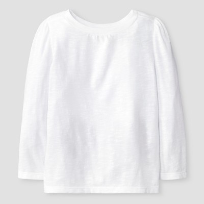 Baby Girls' Long Sleeve Solid Tee White 12M - Cat & Jack™