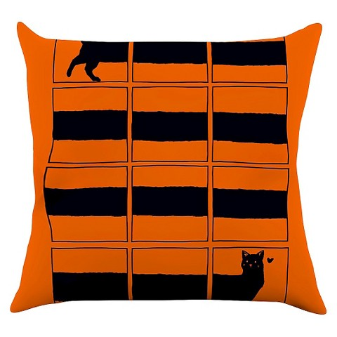 Tobe fonseca quotthe long cat is longquot throw pillow target for Long throw pillows