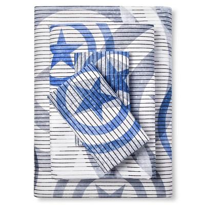 Captain America Shield Sheet Set Full - Blue&Grey - 4 Piece - Marvel®