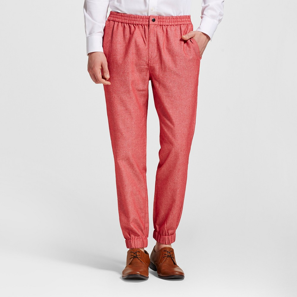 Men's Slim Fit Jogger Suit Pants Red Xxl - WD-NY Black