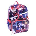 """Marvel Captain America Civil War Backpack With Lunch Bag - Blue/Red (16"""")"""