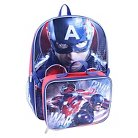 """Marvel Captain America Backpack With Lunch Bag - Blue/Red (16"""")"""
