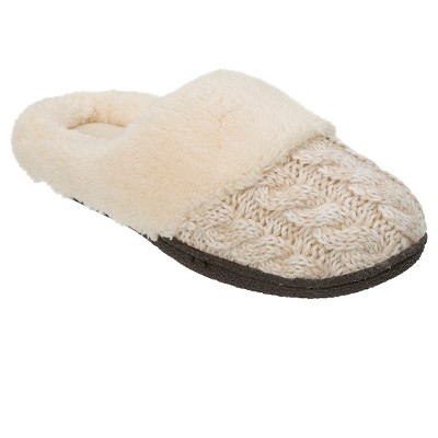 Women's dluxe by dearfoams® Carol Sweater Knit Clog Slippers - Ivory XL