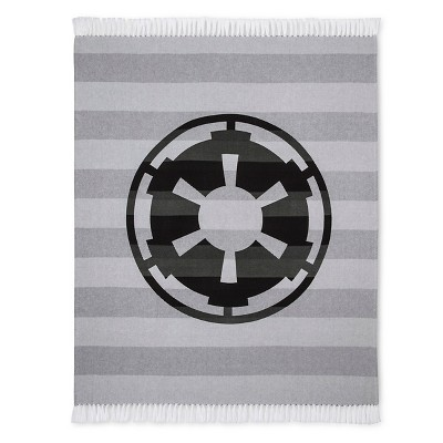 "Star Wars® Empire Stripe Woven Throw (50""x60"") Grey"