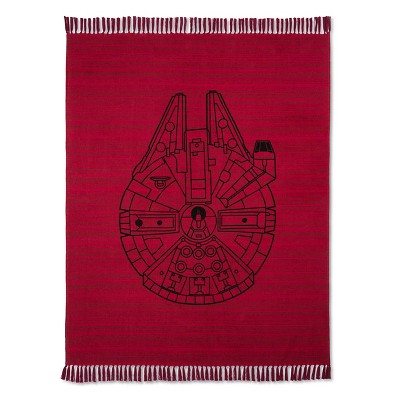 "Millenium Falcon Woven Throw (50""x60"") Red - Star Wars®"