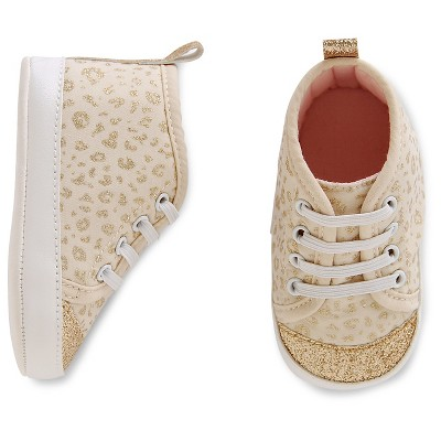 Just One You™Made by Carter's® Baby Girls' Sparkle Hightop - Gold/White Sz1