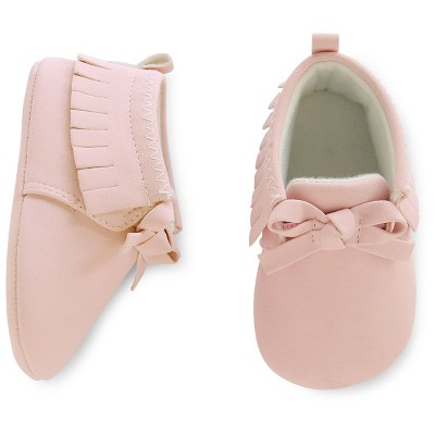 Just One You™ Made by Carter's® Baby Girls' Pink Moccasin Sz2