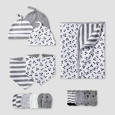 Baby 5 Piece Blanket Acessories Set Baby Cat & Jack™ - Gray