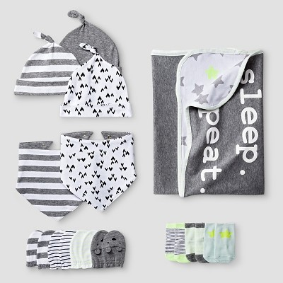 Baby Blanket Accessories Set Baby Cat & Jack™ - White & Gray