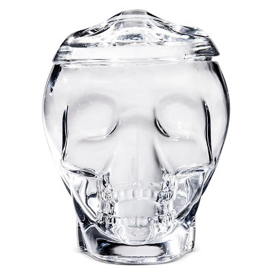 Halloween Large Skull Candy Jar - Clear