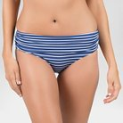 Women's Classic Fold Over Bottom With Moderate Coverage - Classic Navy Stripe - M - Beach By Melissa Odabash