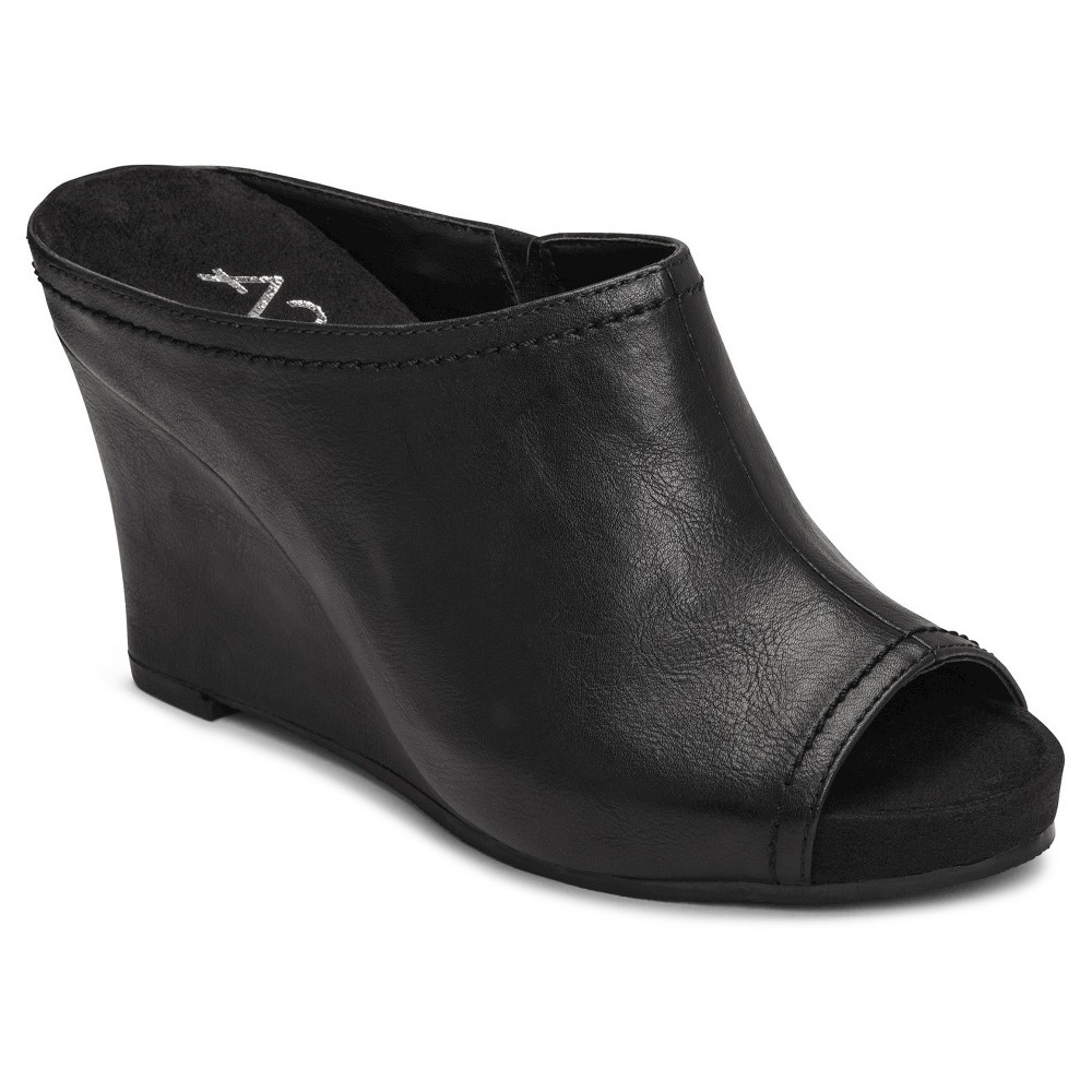 60d38c2b39c ... Wedge Mules - Black - 8.5 UPC 885833014758 product image for A2 by  Aerosoles Women s Plushed Metal Peep Toe Mule Slide Sandals ...