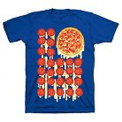 Boys' 4th of July Pizza Flag Graphic Tee Royal Blue XS