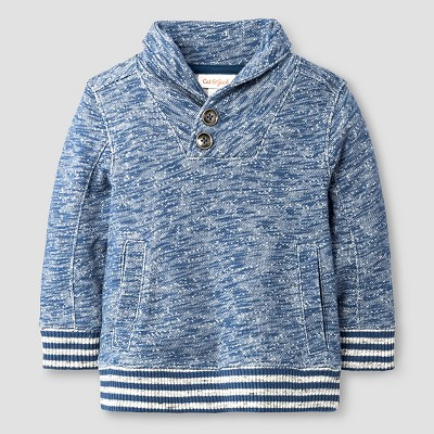Baby Boys' Pullover Sweatshirt Baby Cat & Jack™ - Blue 12 M