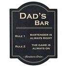 Father's Day 'Dad's Bar' Black Wall Sign