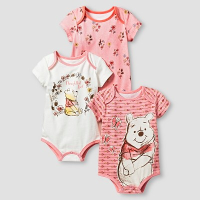 Disney® Pooh 3 Piece Bodysuit Set - Yellow 0-3M