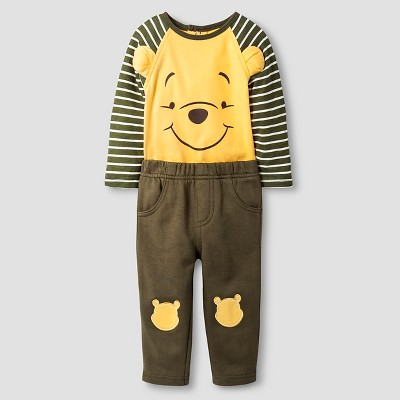 Disney® Pooh Baby Top and Bottom Set - Yellow 3-6M