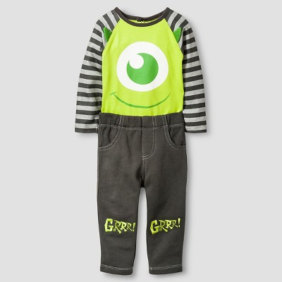 Disney® Monsters Inc. Baby Boys' Top and Bottom Set - Green 3-6M