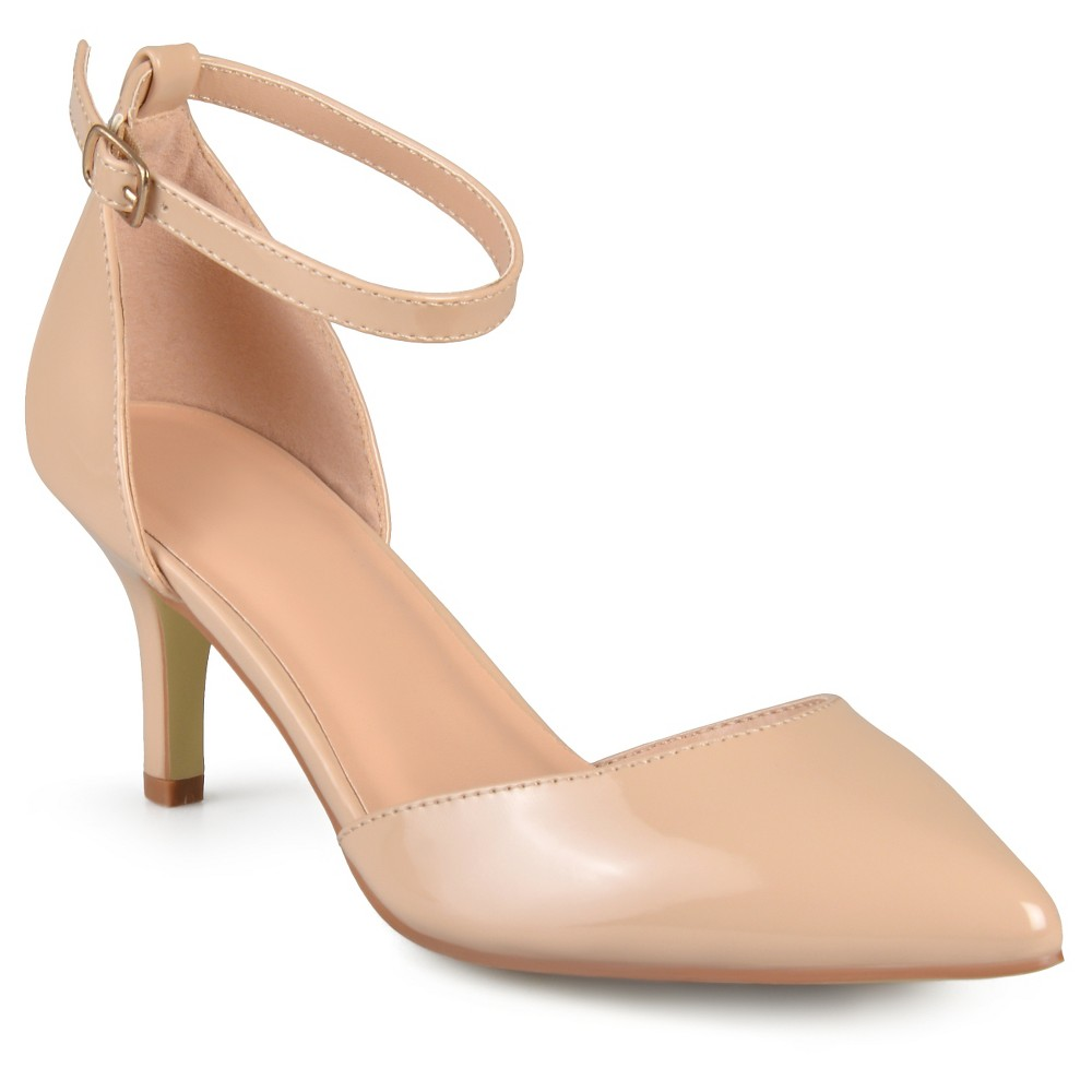 Women's Journee Collection Ike Patent Ankle Strap Pumps - Nude 8